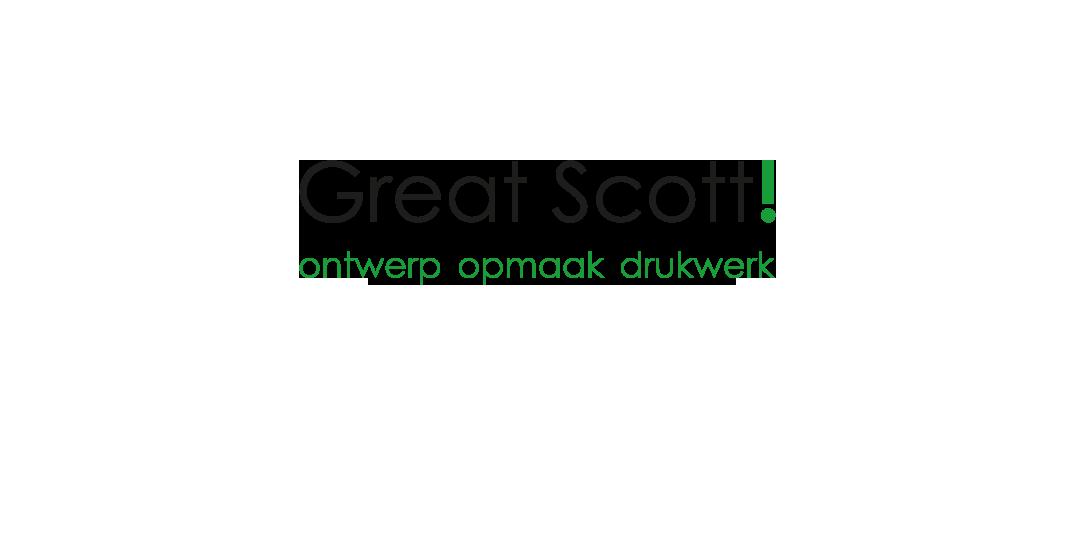 Great Scott ontwerp opmaak drukwerk